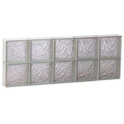 38.75 in. x 15.5 in. x 3.125 in. Ice Pattern Non-Vented Glass Block Window
