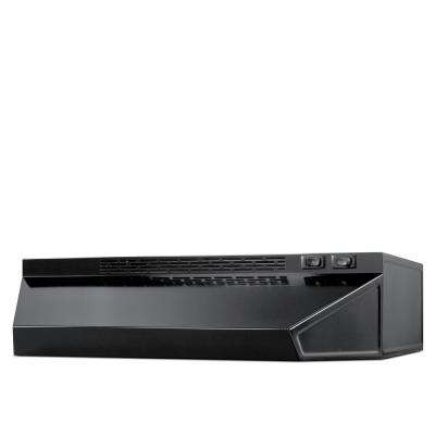 24 in. Ductless Under Cabinet Range Hood with Light in Black