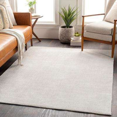 Kathryn Light Gray 8 ft. x 10 ft. Solid Area Rug