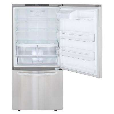 24 cu. ft. Bottom Freezer Refrigerator in Stainless Steel with Reversible Door