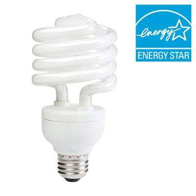100W Equivalent Daylight (5000K) Spiral CFL Light Bulb (E)* (6-Pack)