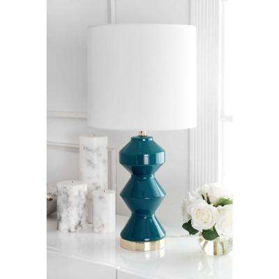 Hyacinth 26 in. Green Table Lamp
