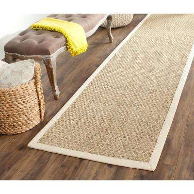 Natural Fiber Beige/Ivory 3 ft. x 10 ft. Runner Rug