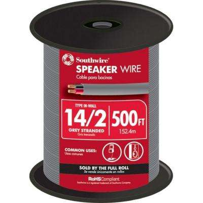 (By-the-Foot) 14-2 Gray Solid CU In-Wall Speaker Wire
