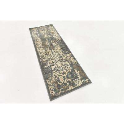 Tuareg Mirage Gray 2' 0 x 6' 0 Runner Rug