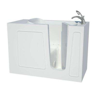 Contractor Series 4.5 ft. Right Drain Walk-In Air Bath Tub in White