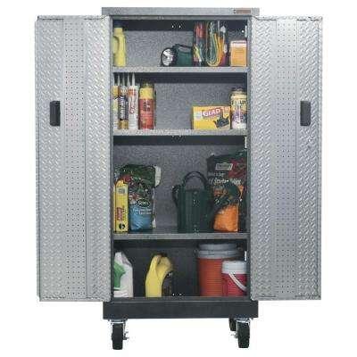 Premier Series Pre-Assembled 66 in. H x 30 in. W x 18 in. D Steel Rolling Garage Cabinet in Silver Tread
