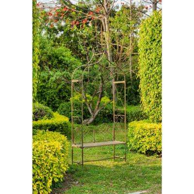 Eloise 95 in. x 42.5 in. Outdoor Iron Arbor