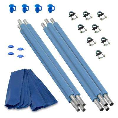 Trampoline Replacement Enclosure Poles and Hardware, Set of 4 (Net Sold Separately)