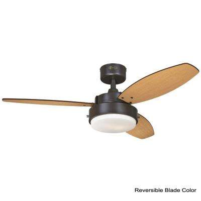 Alloy 42 in. Indoor Oil Rubbed Bronze Finish Ceiling Fan