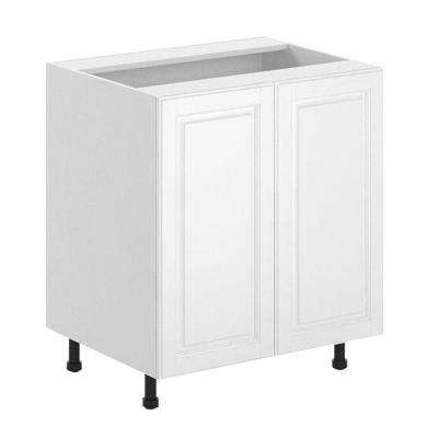 30x34.5x24.5 in. Birmingham Full Height Base Cabinet in White Melamine and Door in White