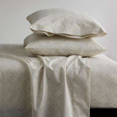 Herringbone 200-Thread Count Organic Cotton Percale Sheet Set