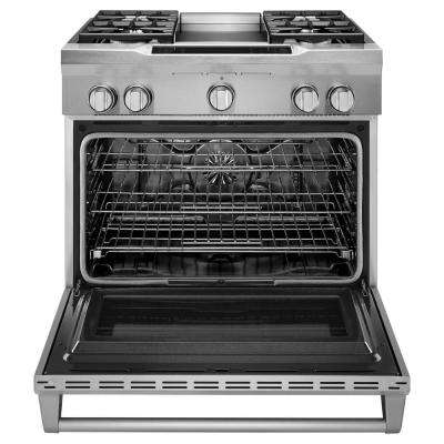 Commercial-Style 5.1 cu. ft. Slide-In Dual Fuel Range with Self-Cleaning Convection Oven in Stainless Steel