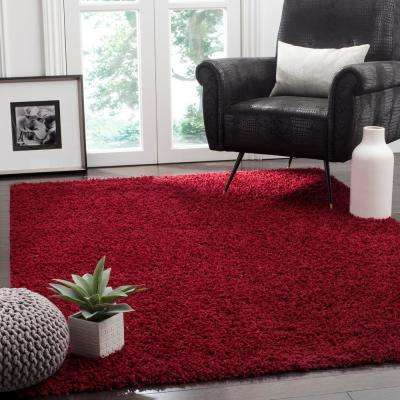 Athens Shag Red 9 ft. x 12 ft. Area Rug