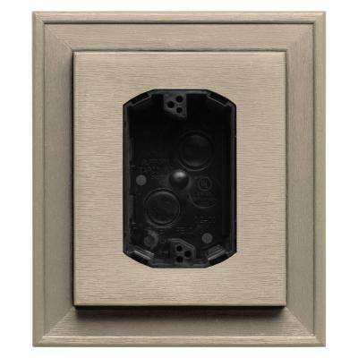7 in. x 8 in. #011 Sandalwood Electrical Mounting Block