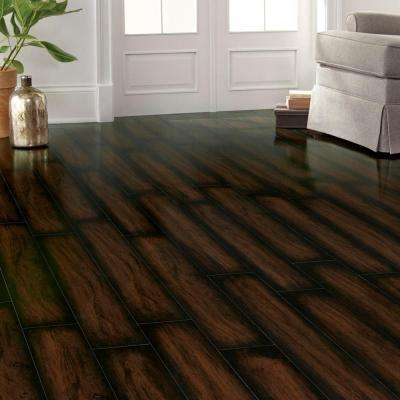 High Gloss Distressed Maple Auburn 12 mm x 5-9/16 in. Wide x 47-3/4 in. Length Laminate Flooring (18.45 sq. ft. / case)