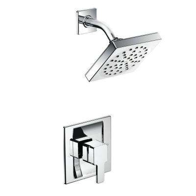 90-Degree Single-Handle 1-Spray Moentrol Shower Faucet Trim Kit in Chrome (Valve Not Included)