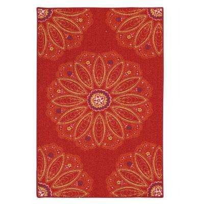Lacee Red 2 ft. 6 in. x 3 ft. 10 in. Area Rug