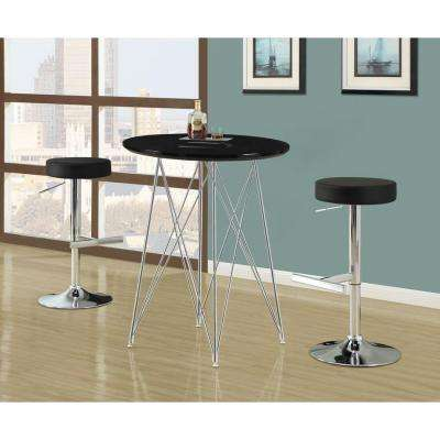 Metal Hydraulic Lift Barstool in Black and Chrome