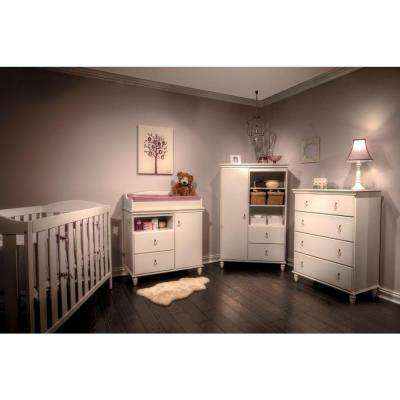 Moonlight 42-1/2 in. x 31-1/2 in. 4-Drawer Chest in Pure White