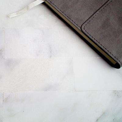 Brushed Oriental 2 in. x 8 in. x 8 mm Marble Mosaic Tile