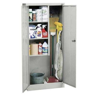 66 in. H x 30 in. W x 15 in. D Steel Freestanding Combination Storage Cabinet in Dove Gray