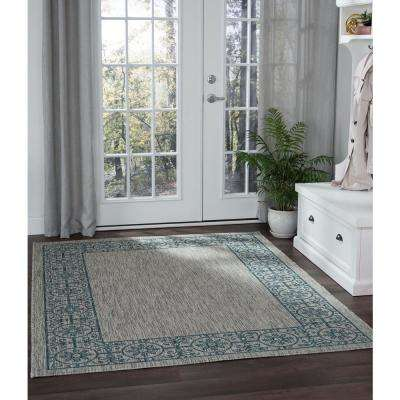 Veranda Teal 7 ft. x 10 ft. Indoor/Outdoor Area Rug