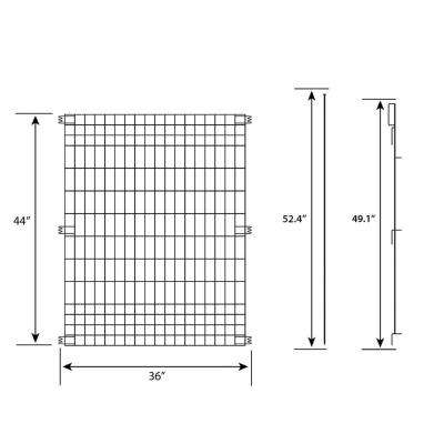 44 in. x 18 ft. Multi-Purpose Metal Fence Kit with 6 Panels 7 Posts and 1 Gate Latch