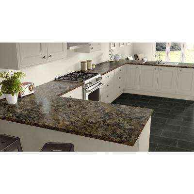 3 in. x 5 in. Laminate Countertop Sample in Winter Carnival with Premium Quarry