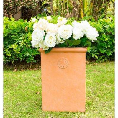 Small 18.5 in. Tall Terracota Lightweight Concrete Classic Tall Rectangle Planter