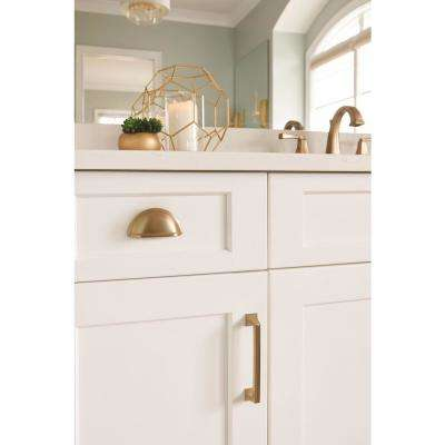Mulholland 5-1/16 in (128 mm) Center-to-Center Golden Champagne Cabinet Drawer Pull