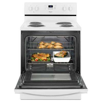 30 in. 4.8 cu. ft. Electric Range with Self-Cleaning Oven in White
