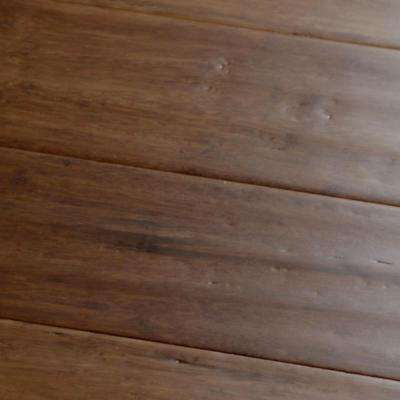 Carbonized Hand-Scraped 7/16 in. Thick x 3-3/4 in. Wide x Varying Length Bamboo Hardwood Flooring (22.93 sq. ft. / case)