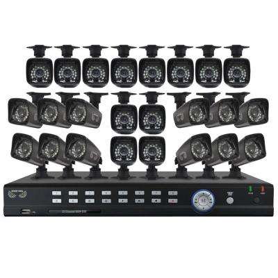32-Channel Video Security System with 24 x 700TVL Bullet Cameras
