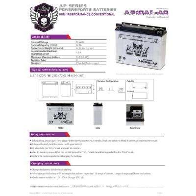 Conventional Wet Pack 12- Volt 16 Ah Capacity B Terminal Battery