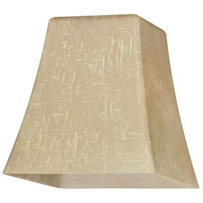 5-1/4 in. Hand-Blown Amber Linen Flared Cube Shade with 2-1/4 in. Fitter and 5 in. Width