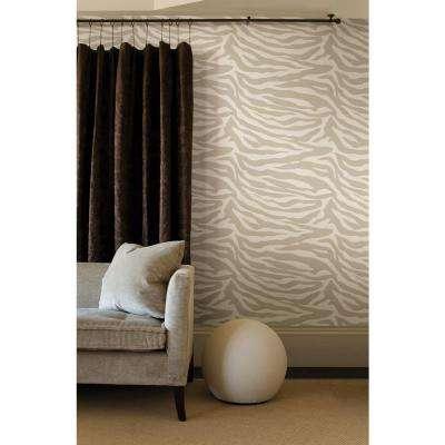 Zebbie Gold Zebra Print Wallpaper