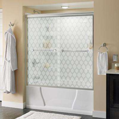 Mandara 60 in. x 58-1/8 in. Semi-Frameless Sliding Bathtub Door in Chrome with Ojo Glass