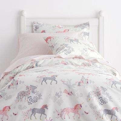 Enchanted Unicorn 200-Thread Count Cotton Percale Duvet Cover
