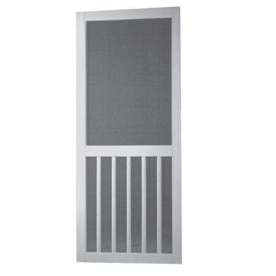 Vinyl White 5-Bar Screen Door