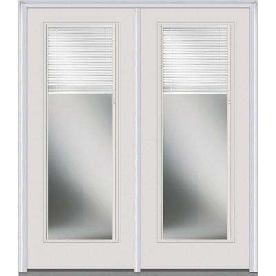 Classic Clear Low-E Glass Fiberglass Smooth Prehung Left-Hand Inswing RLB Patio Door