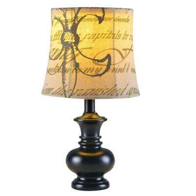 17 in. Black Resin Accent Lamp