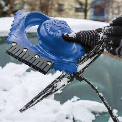 Ice Dozer and Snow Scraper Tool with Squeegee Brush