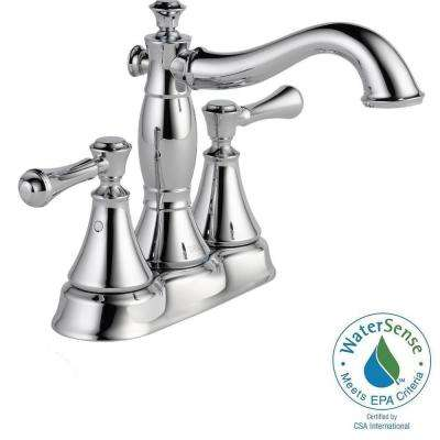 Cassidy 4 in. Centerset 2-Handle High-Arc Bathroom Faucet in Chrome