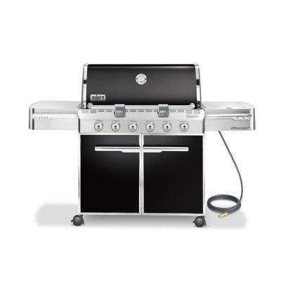 Summit E-620 6-Burner Natural Gas Grill in Black