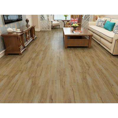 Natural 1/3 in. Thick x 7.68 in. Wide x 47.83 in. Length Laminate Flooring (25.51 sq. ft.)