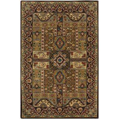 Justica Dark Brown 7 ft. 6 in. x 9 ft. 6 in. Area Rug