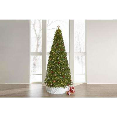 15 ft. Pre-Lit LED Wesley Spruce Artificial Christmas Tree with 2,400 Warm White Lights