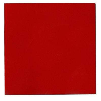 24 in. x 24 in. Red Square Acoustic Sound Absorbing Wall Panels (2-Pack)