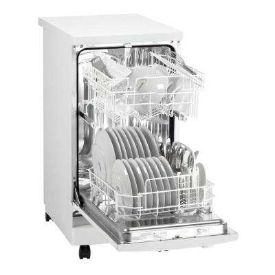 18 in. Portable Dishwasher in White with 8 Place Setting Capacity